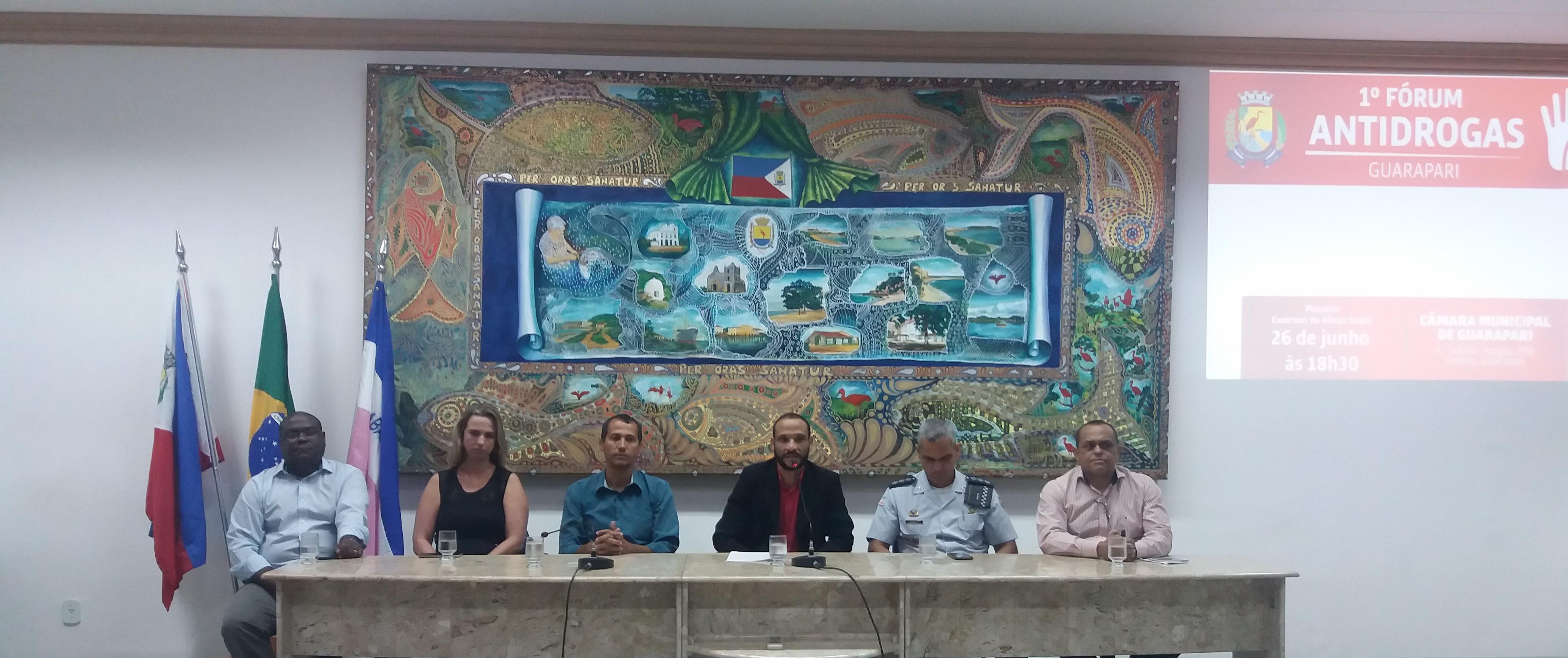 O Fórum contou com a presença de representantes de comunidades terapêuticas e da Polícia Militar