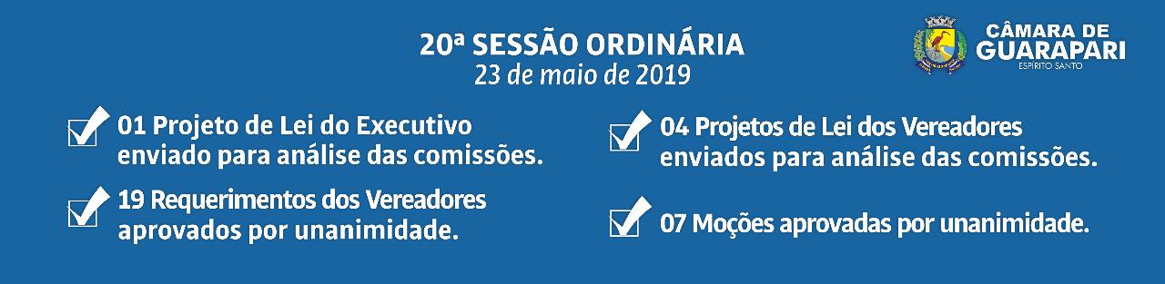 20ª Sessão Ordinária de 2019