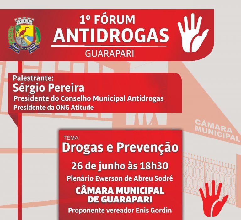 Câmara vai realizar 1º Fórum Antidrogas de Guarapari