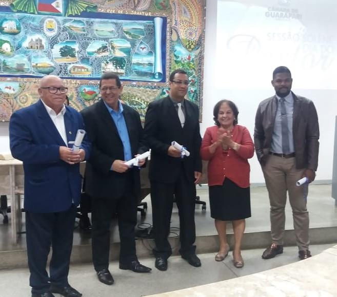 Vereadora Paulina e os pastores Robson Moraes, Samaorni Nascimento, Ronielly Eloy e Enivaldo Lopes.